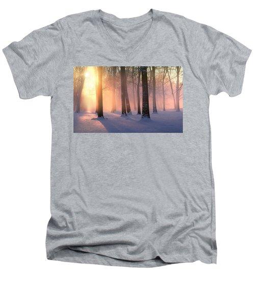 Presence Of Light Men's V-Neck T-Shirt
