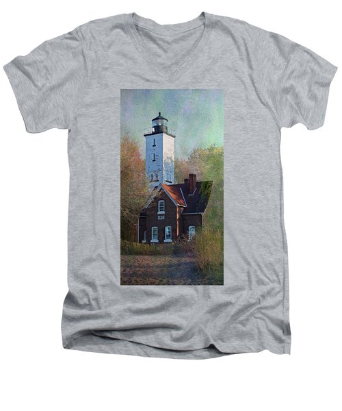 Presque Isle Lighthouse Men's V-Neck T-Shirt