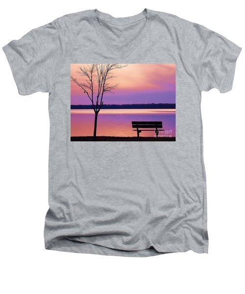 Presque Isle Solitude 11.12.12 Men's V-Neck T-Shirt