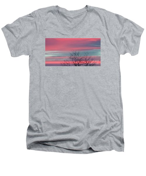 Pretty In Pink Sunrise Men's V-Neck T-Shirt
