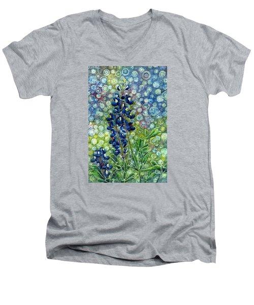 Pretty In Blue Men's V-Neck T-Shirt