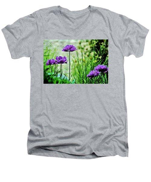 Pretty Purple Men's V-Neck T-Shirt