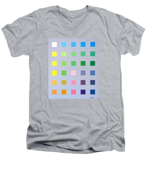 Primary To Tertiary Men's V-Neck T-Shirt by Thomas Gronowski