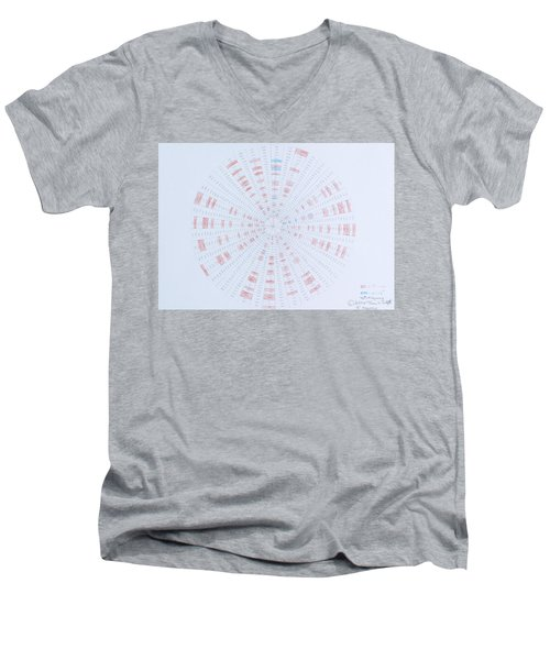 Prime Number Pattern P Mod 40 Men's V-Neck T-Shirt