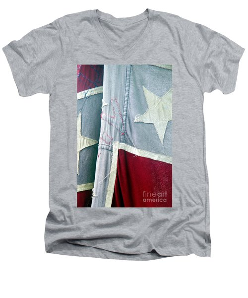 Primitive Flag Men's V-Neck T-Shirt by Valerie Reeves