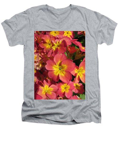 Primrose Flowers Men's V-Neck T-Shirt