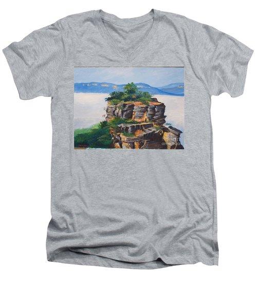 Prince Henry Cliff Australia Men's V-Neck T-Shirt