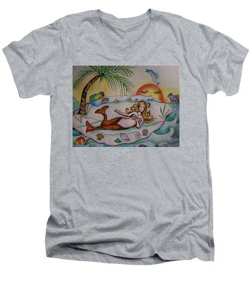 Private Paradise Men's V-Neck T-Shirt