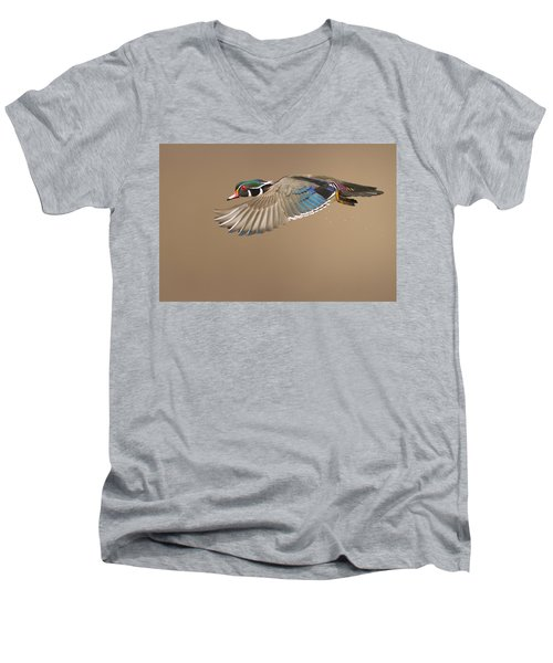 Probably The Most Beautiful Of All Duck Species Men's V-Neck T-Shirt