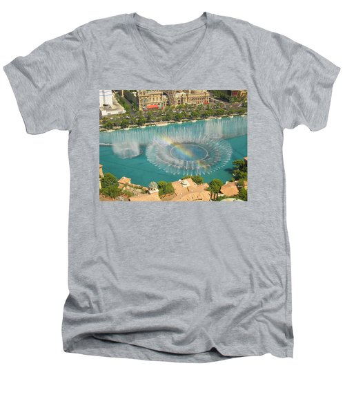 Men's V-Neck T-Shirt featuring the photograph Promise by Angela J Wright