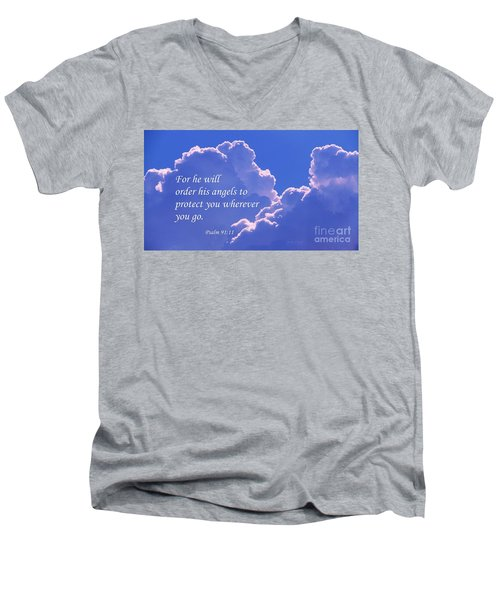 Promise Of Protection Men's V-Neck T-Shirt