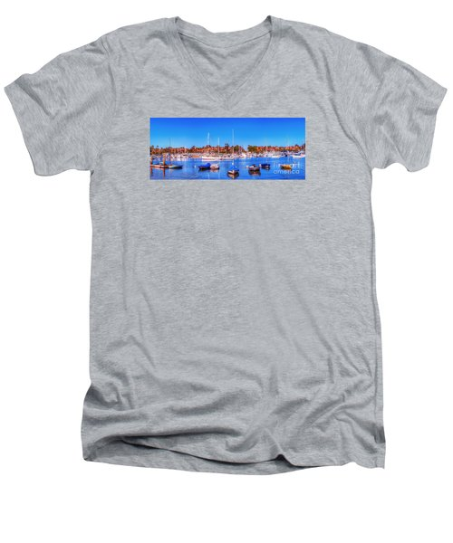Promontory Point - Newport Beach Men's V-Neck T-Shirt by Jim Carrell