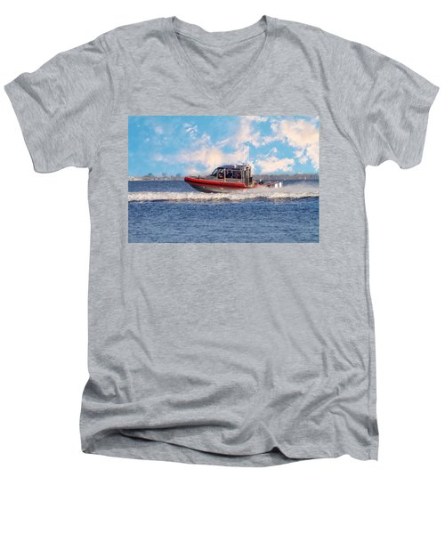 Protecting Our Waters - Coast Guard Men's V-Neck T-Shirt