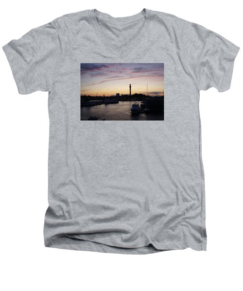 Provincetown Sunset Men's V-Neck T-Shirt