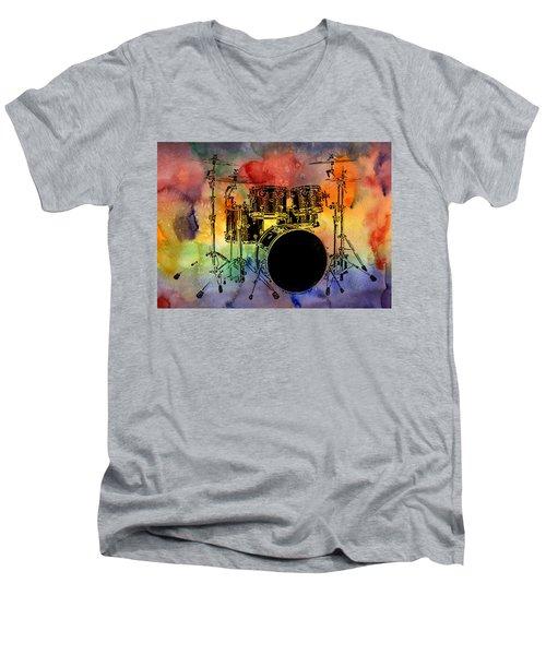 Psychedelic Drum Set Men's V-Neck T-Shirt