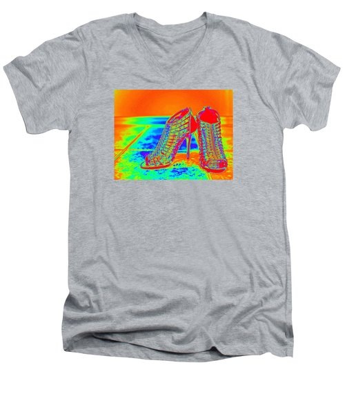 Psychedelic Stilettos Men's V-Neck T-Shirt