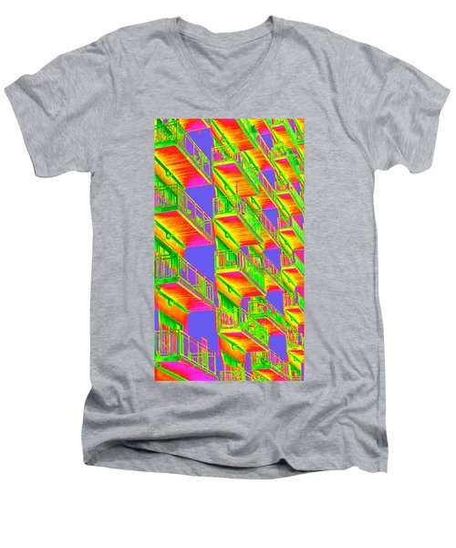 Psycho Balconies Men's V-Neck T-Shirt