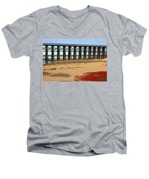 Pudding Creek Bridge Men's V-Neck T-Shirt