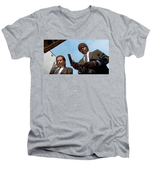 Pulp Fiction Artwork 1 Men's V-Neck T-Shirt