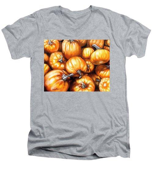 Pumpkin Palooza Men's V-Neck T-Shirt by Shana Rowe Jackson