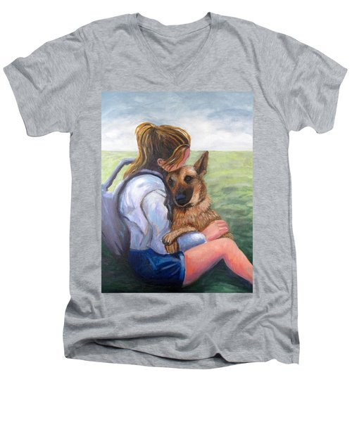 Puppy Love Men's V-Neck T-Shirt