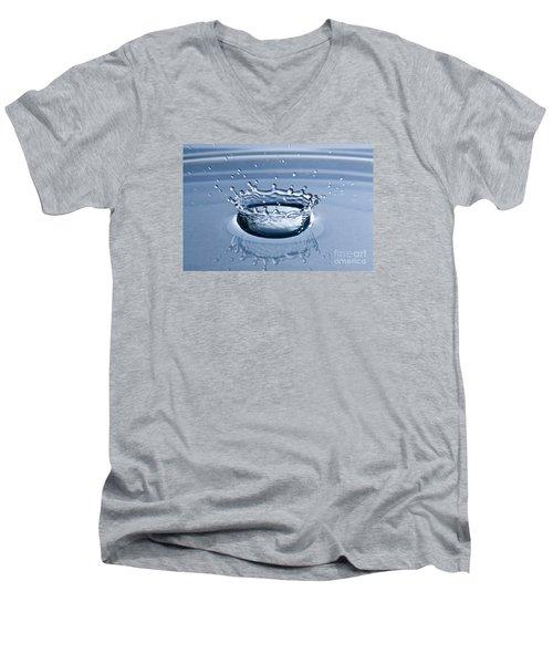 Pure Water Splash Men's V-Neck T-Shirt by Anthony Sacco