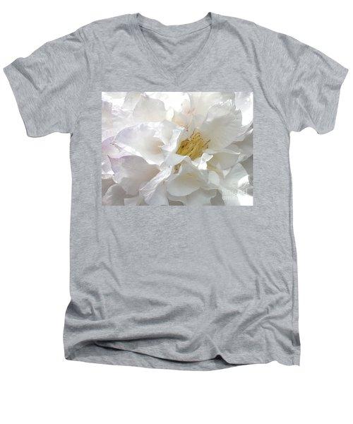 Pure White Men's V-Neck T-Shirt