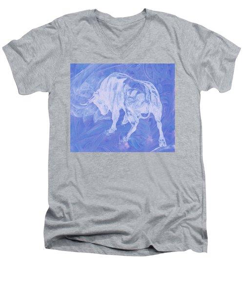 Purple Bull Negative Men's V-Neck T-Shirt