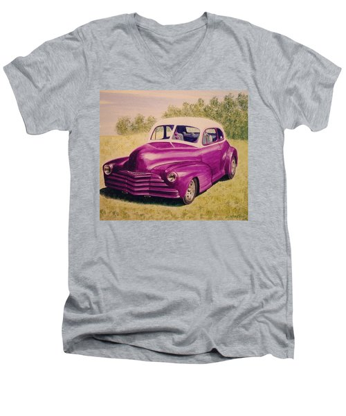 Purple Chevrolet Men's V-Neck T-Shirt