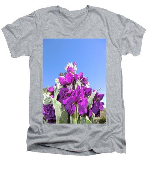 Purple Glow 2 Men's V-Neck T-Shirt
