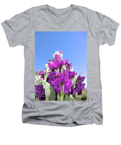 Purple Glow 2 Men's V-Neck T-Shirt
