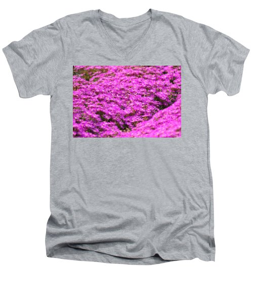 Men's V-Neck T-Shirt featuring the photograph Purple Hills by Amy Gallagher