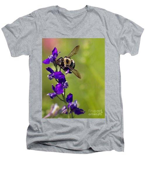 Purple Majesty Men's V-Neck T-Shirt by Erika Weber