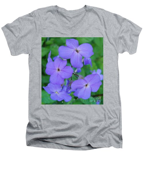 Men's V-Neck T-Shirt featuring the photograph Purple Passion by Sara  Raber