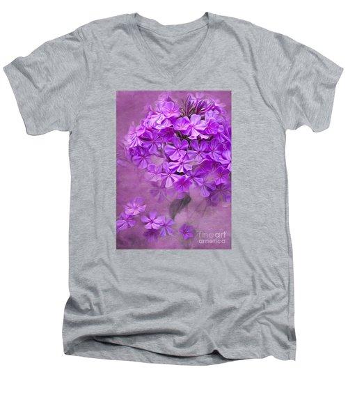 Purple Phlox Men's V-Neck T-Shirt