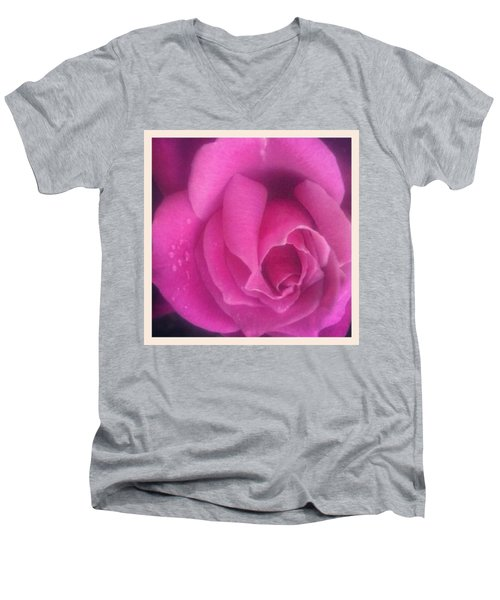 Purple Rose Confection Men's V-Neck T-Shirt