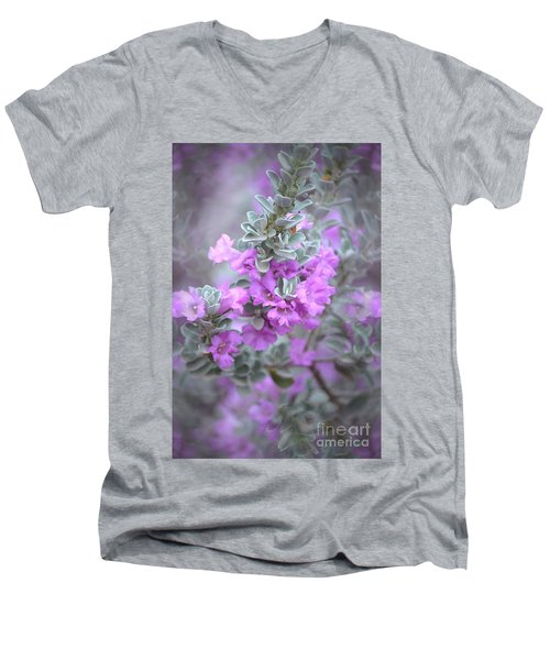 Purple Sage Men's V-Neck T-Shirt