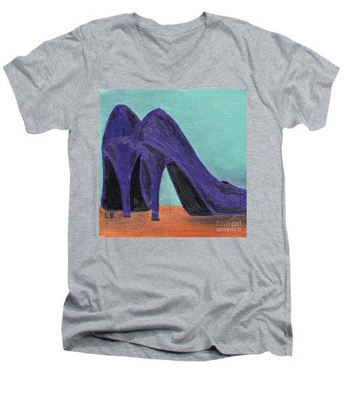 Purple Shoes Men's V-Neck T-Shirt