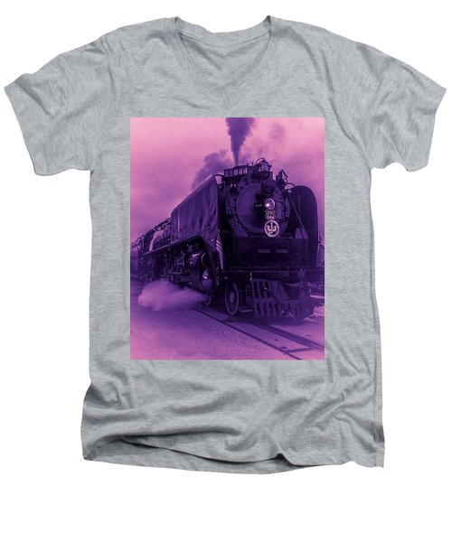 Purple Smoke Men's V-Neck T-Shirt by Bartz Johnson
