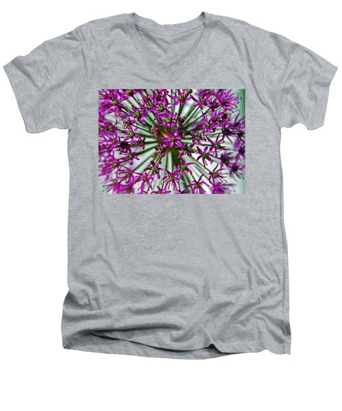 Men's V-Neck T-Shirt featuring the photograph Purple Starlight by Aimee L Maher Photography and Art Visit ALMGallerydotcom