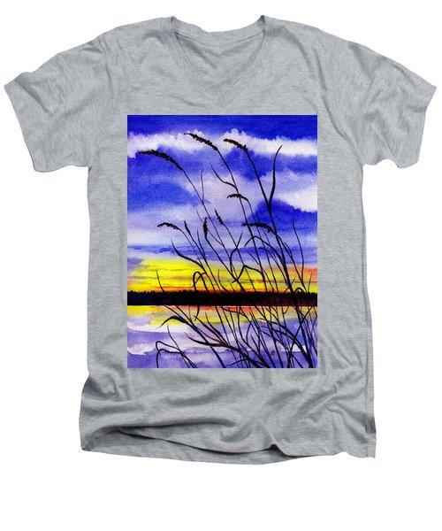 Purple Sunset Men's V-Neck T-Shirt