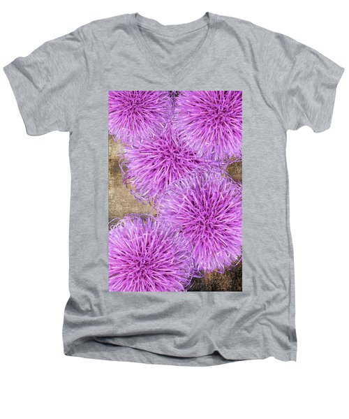 Purple Thistle - 2 Men's V-Neck T-Shirt