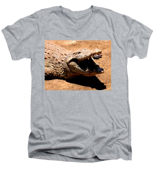 Put It Right Here Men's V-Neck T-Shirt by Jay Milo