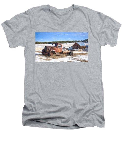 Put Out To Pasture Men's V-Neck T-Shirt