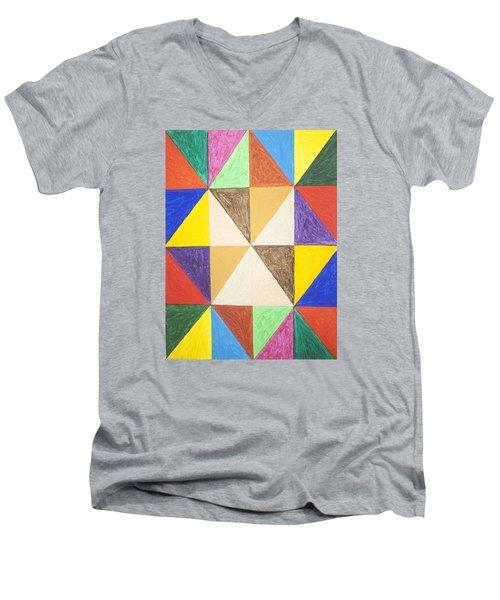 Pyramids 2 Men's V-Neck T-Shirt by Stormm Bradshaw