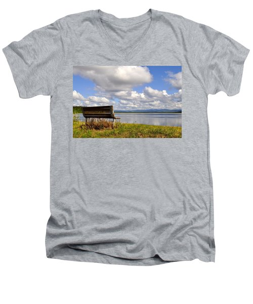 Men's V-Neck T-Shirt featuring the photograph Quartz Lake by Cathy Mahnke