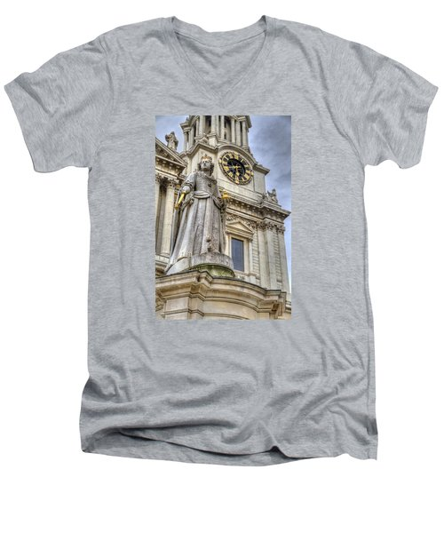 Queen Anne Statue Men's V-Neck T-Shirt