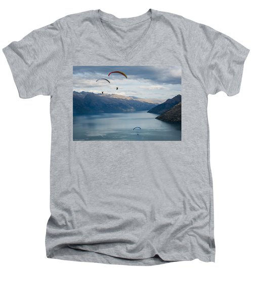 Queenstown Paragliders Men's V-Neck T-Shirt