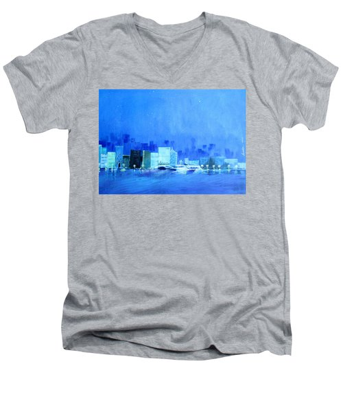 Quiet City Night Men's V-Neck T-Shirt