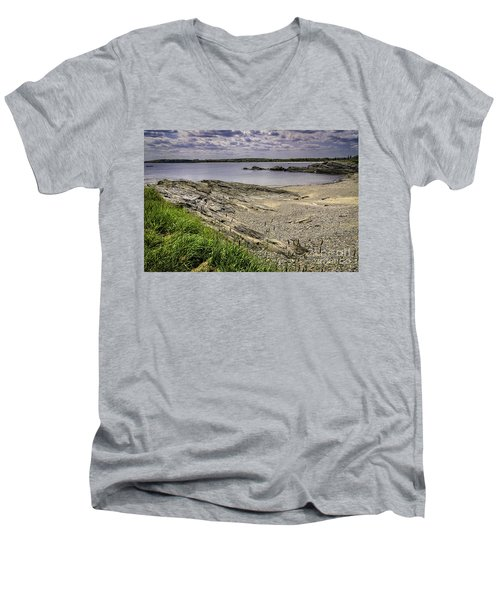 Men's V-Neck T-Shirt featuring the photograph Quiet Cove by Mark Myhaver